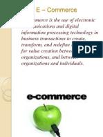 E – Commerce ppt