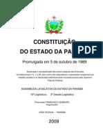 CONSTITUIÇÃO DO ESTADO DA PARAÍBA