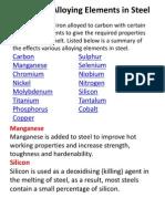 Alloying Steels