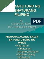 Ang Pagtuturo Ng Asignaturang Filipino