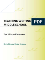 Teaching Writing in Middle School Tips Tricks and Techniques