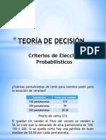 Criterios Probabilisticos de Decisión