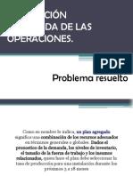 Planeacion Agregada de Las Operaciones - Problema