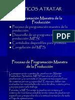 Programación Maestra de la Producción