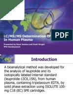 Leuprolide Acetate Method
