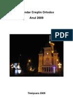 Calendar Crestin Ortodox - Anul 2009