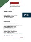 Vocabulary Countries&Nationalities 0312