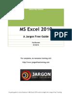 MS-Excel 2010 Manual