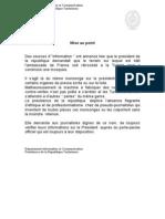 Mise Au Point Concernant Le Terrain de l'Ambassade de France - 24-03-2012