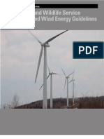 Wind Energy Guidelines FWS ~Voluntary  3/23/2012
