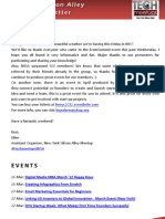 New York Silicon Alley Weekly Newsletter 23-March-2012