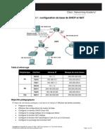 Configuration de Base de DHCP Et NAT