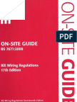 On-SITE GUIDE BS 7671 2008 IEE Wiring Regulations 17th Edition