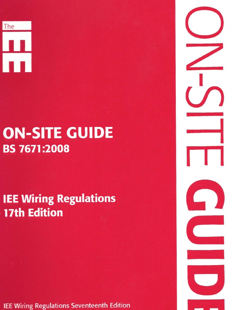Fine On Site Guide Bs 7671 2008 Iee Wiring Regulations 17Th Edition Wiring Cloud Brecesaoduqqnet