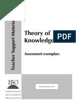 ToK Assessment Exemplars