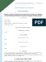 Déclaration patrimoine Sarkozy - 2012