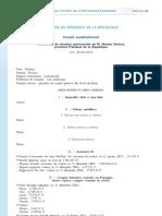 Déclaration patrimoine Sarkozy - 2007