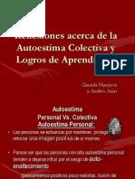 Autoestima Colectiva y Logro de Aprendizajes -2011