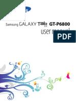 GT P6800 Manual