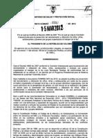 Decreto 0552 de 2012 - Reclutamiento de niños