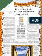 How to Avoid a Var Saddam Must Step Down-Harun Yahya-Www.islamchest