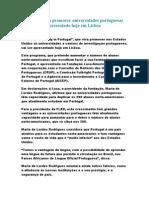 Programa Para Promover Universidades Portuguesas Nos EUA A Present Ado Hoje Em Lisboa