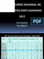 Concurso Nacional de Prototipos DGETI-2012