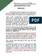 Memoria Descriptiva Drenaje de La Av. Vice