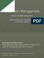 Workshop -Classroom Management