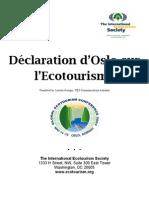 Oslo Statement on Eco Tourism/ Déclaration d'Oslo sur l'Ecotourisme (French)