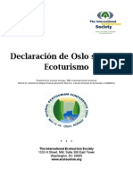 Oslo Statement on Eco Tourism/ Declaración de Oslo sobre el Ecoturismo (Spanish)