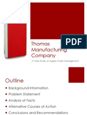 Thomas Manufacturing | Supply Chain | Inventory