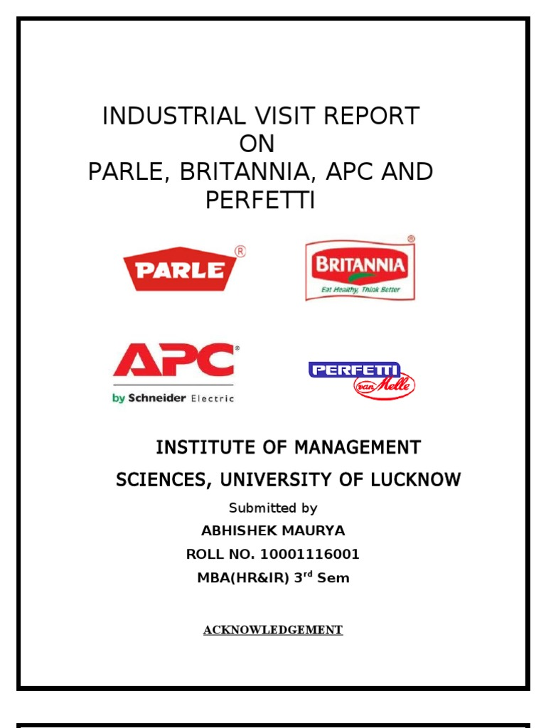 report on industrial visit to amul Preface amul is the pride not only of gujarat but also of entire country it is a matter of great pleasure in preparing this project on such esteemed organization a person aspiring to enter in management profession must have practical knowledge of the subject the objective of industrial visit is.