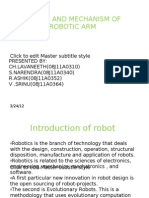 Design and Mechanism of Robotic Arm