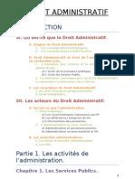 Plan Droit Administratif