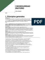 OMS manual de Bioseguridad en español