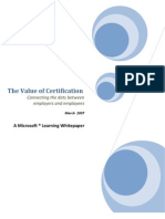 Value of Certification - English Version