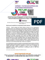 FACTURA CBB EXPRESS – FACTURACION IMPRESA CON CODIGO DE BARRAS BIDIMENCIONAL