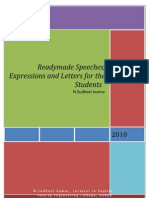 44232347 Readymade Speeches Expressions and Letters for the Students by Sudheer Kumar Nadukuditi