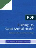 Building Up Good Mental Health