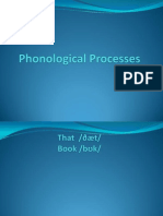 Phonological Processes
