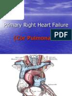 2007 Primary Right Heart Failure Cor Pulmonale