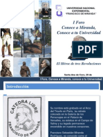 Presentación sobre Francisco de Miranda