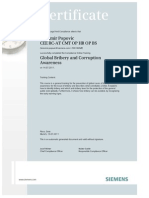 Global Bribery and Corruption Certificate