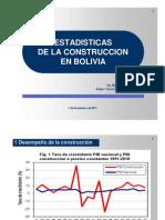 Estadisticas de la Construcción en Bolivia Nov2011