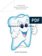 Importancia de la Odontologia