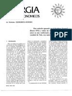 (GEORGESCU-ROEGEN  Nicholas) Energia y Mitos económicos