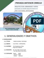 FAUA UPAO Taller Pre Profesional de Diseño Arquitectónico VIII 2011-10 ESQUISSE CentroCultural Artesanal - Catacaos Piura