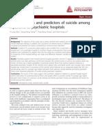 Eventos centinelas predictores de suicidio en hospitalización psiquiátrica