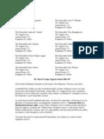 Letter to KY Senate Opposing SB135